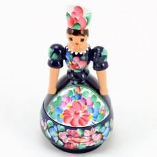 Baba tároló-fadoboz - Kék - Hungarian Souvenir